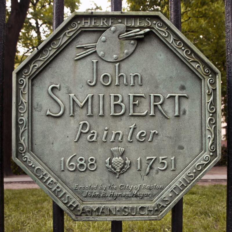 A Plaque Marking the Grave of John Smibert