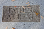 A Plaque on a Ground Ledger for Father