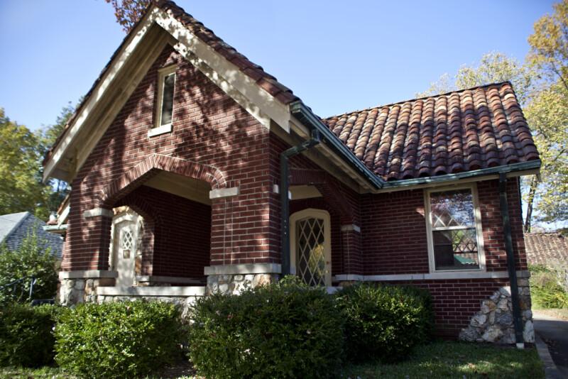 A Porch with a Tudor Arch
