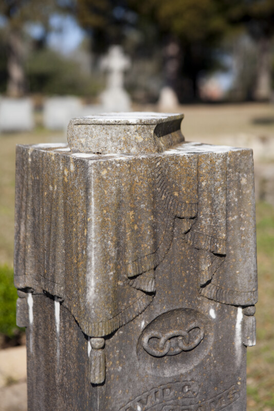 A Pulpit Style Grave Marker with a Closed Book