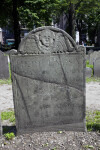 A Repaired Shouldered Tablet Headstone