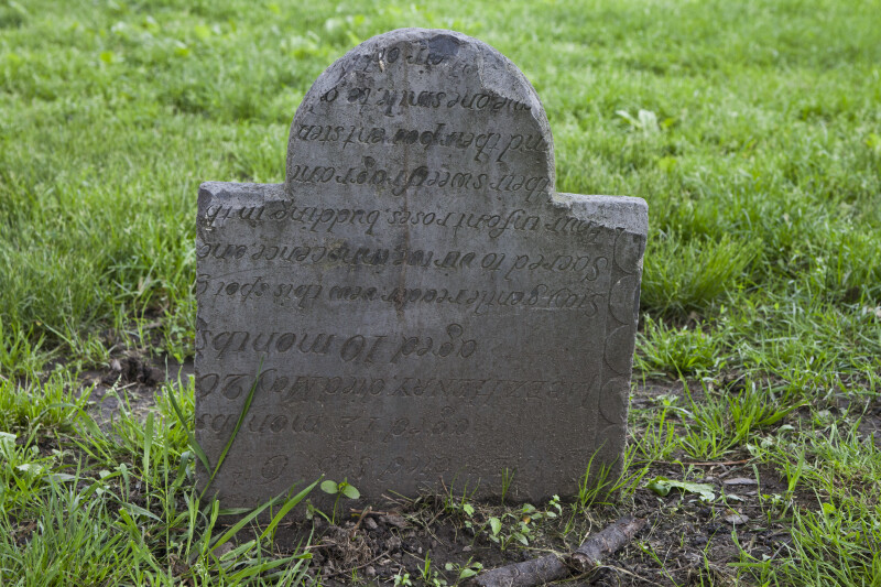 A Reworked Shouldered Tablet Headstone
