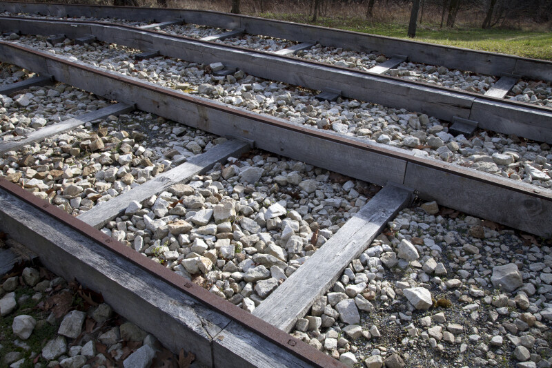 A Rock Bed under Wood-Frame Tracks