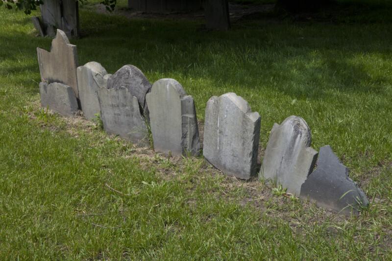 A Row of Headstones