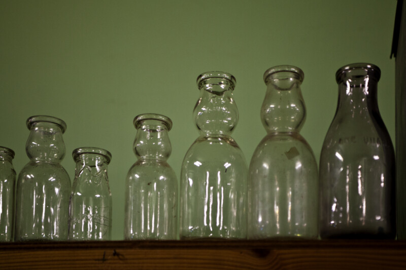 A Row of Milk Bottles