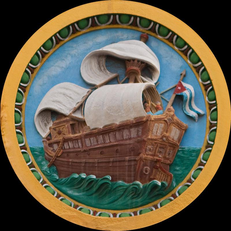 A Sailing Ship with a Cuban Ensign