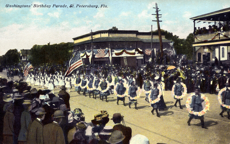 A Scene from the Washingtons' Birthday Parade in St. Petersburg, Florida