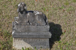 A Sculpted Lamb on a Grave Marker