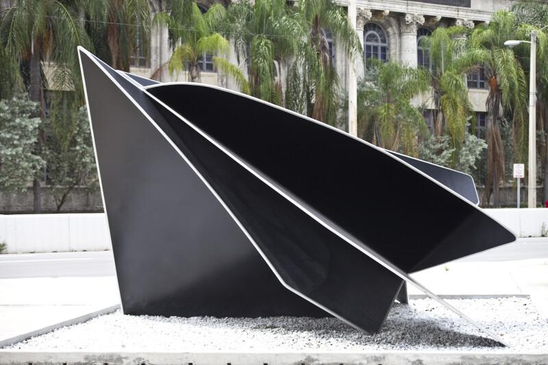A Sculpture in a Plaza
