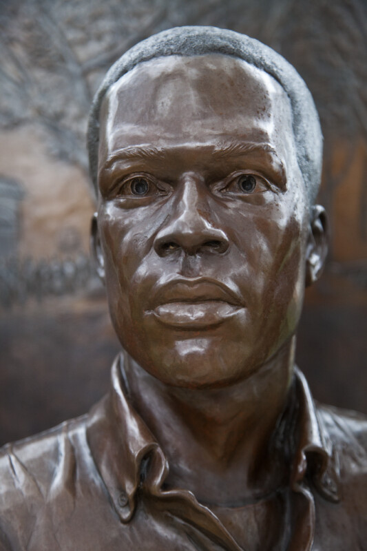 A Second Sculptural Figure on a Civil Rights Monument