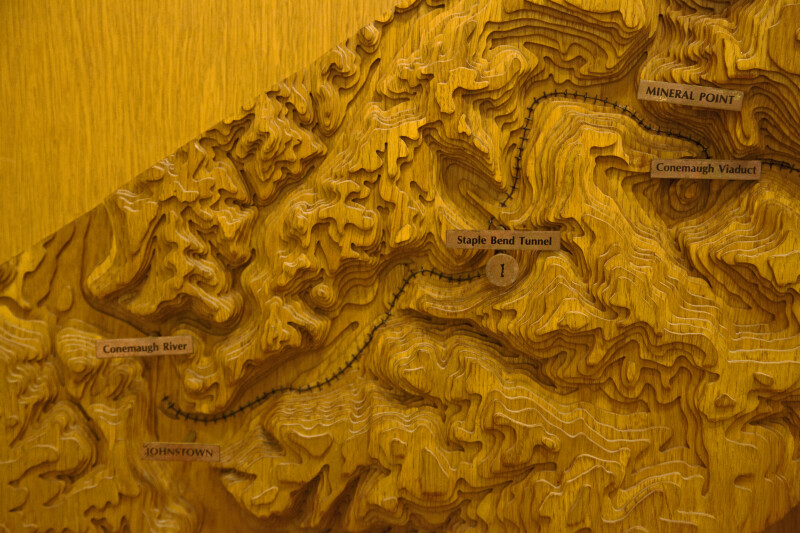 A Section of a Model Showing the Topography between Mineral Point and Johnstown