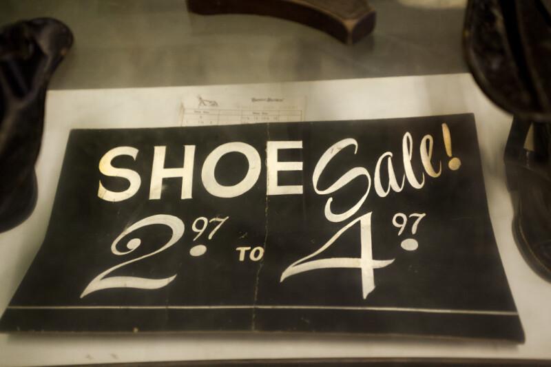 A Shoe Sale Sign