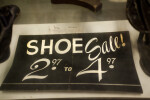 A Shoe Sale Sign