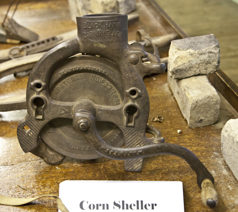A Side View of a Black Hawk Corn Sheller
