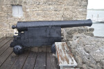 A Side View of a Cannon