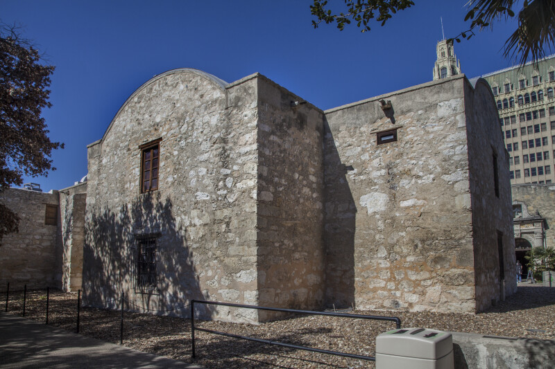 A Side View of the Alamo Church