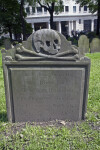 A Skull and Crossbones on a Tablet Headstone