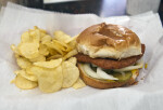 "A ""Slugburger"" and Potato Chips"