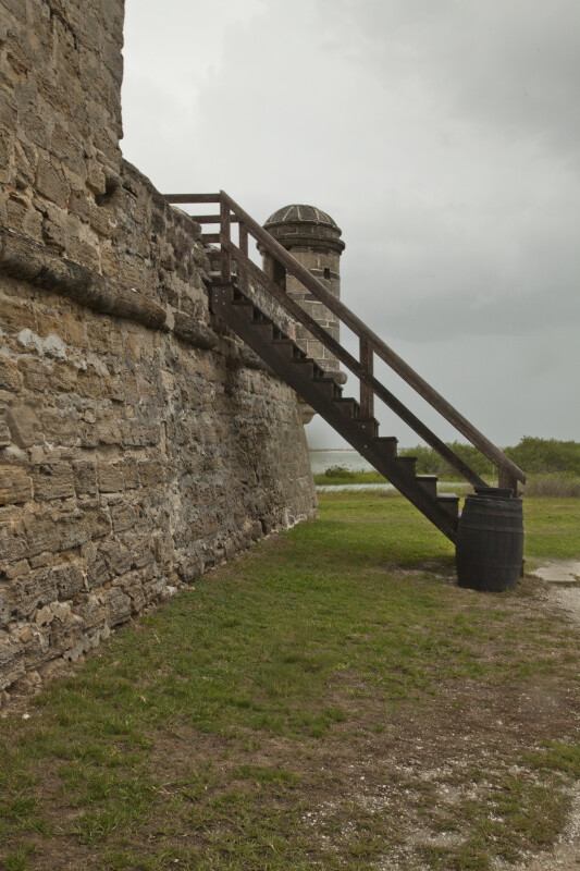 A Stairway Leading to the Gun Deck of Fort Matanzas