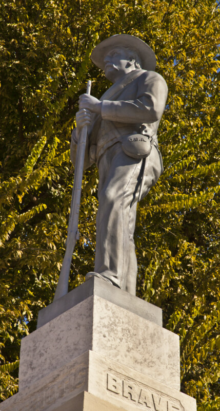 A Statue Depicting Colonel William P. Rogers