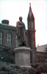 A Statue of Joseph Henry, outside the Smithsonian Institution Building