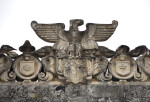 A Stone Eagle with Three Escutcheons
