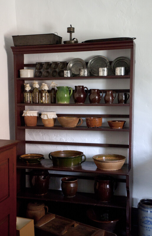 A Storage Rack for Kitchen Items