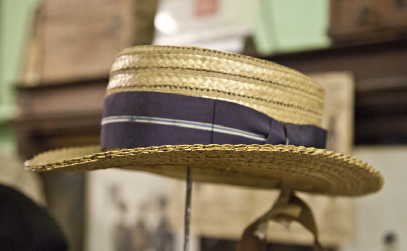 A Straw Boater with a Wide Band