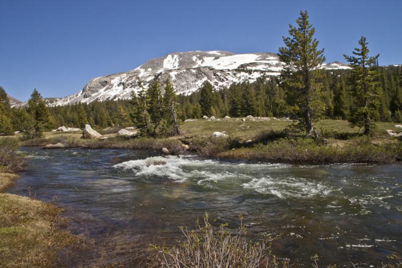 A Stream near a Mountain