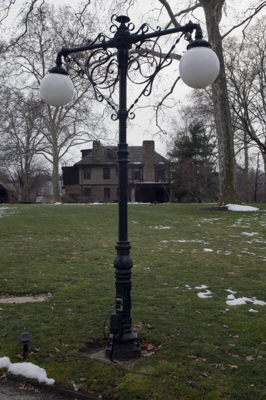 A Streetlamp with Two Globes