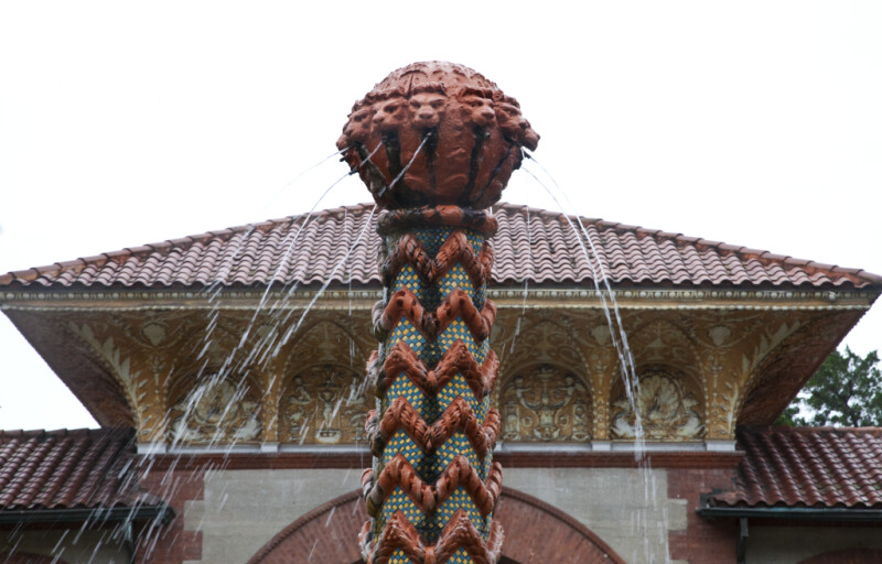 A Terracotta Element on the top of a Fountain Column