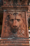A Terracotta Lion on a Brick Pillar