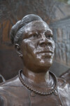 A Third Sculptural Figure on a Civil Rights Monument