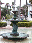 A Three-Basin Fountain with a Shallow Pool