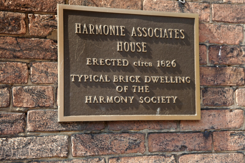 A Typical Brick Building of the Harmonist Society