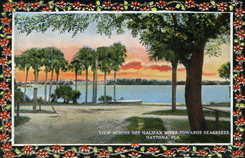 A View Across the Halifax River Towards Seabreeze, Daytona, Florida