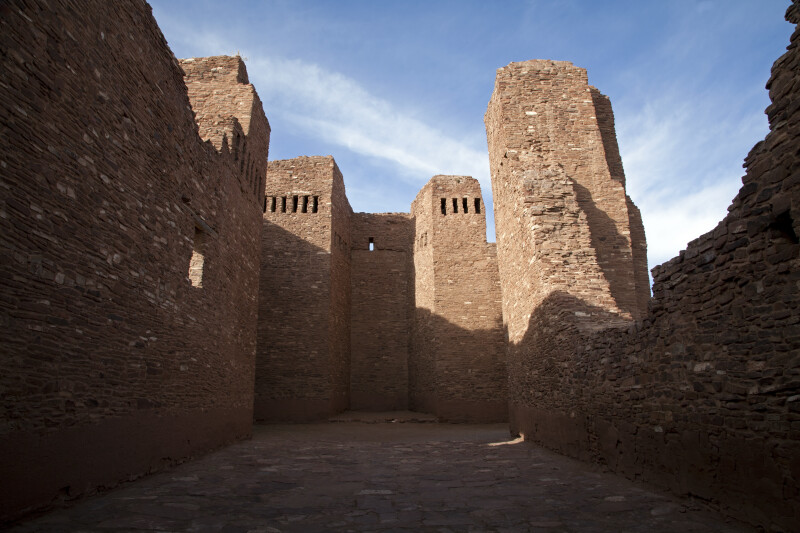 A View From Inside of the Mission Ruins at Quarai