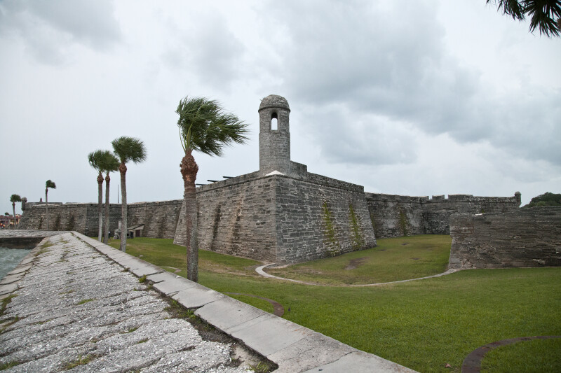 A View of Castillo de San Marcos, from the Northeast