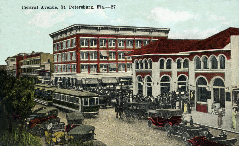 A View of Central Avenue in St. Petersburg, Florida