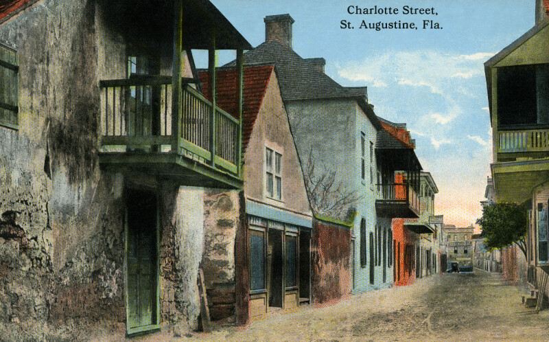 A View of Charlotte Street in St. Augustine, Florida