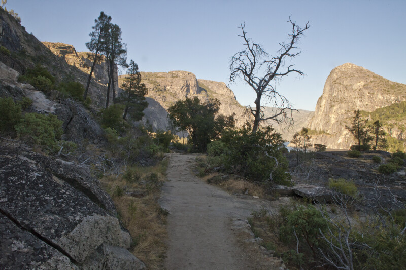 A View of Hetch Hetchy Dome from the Trail