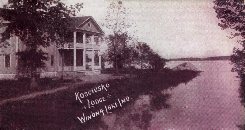 A View of Kosciusko Lodge in Winona Lake, Indiana