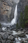 A View of Lower Yosemite Falls