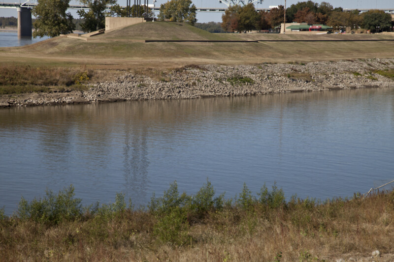 A View Of Mud Island River Park, from across Wolf River Lagoon