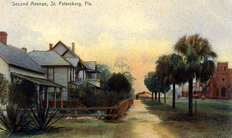 A View of Second Avenue in St. Petersburg, Florida