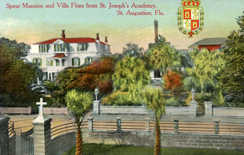 A View of Spear Mansion and Villa Flora, from St. Joseph's Academy, in St. Augustine, Florida
