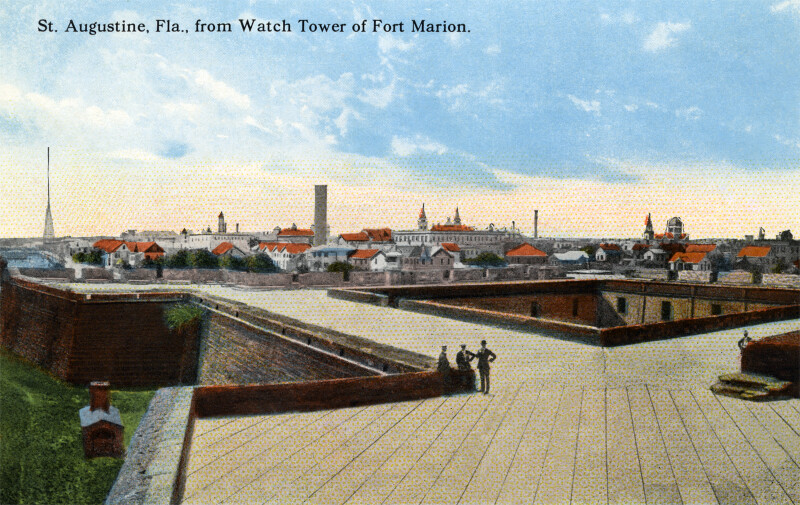 A View of St. Augustine, from the Watch Tower at Fort Marion