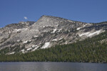 A View of Tenaya Peak by a Lake
