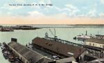 A View of the Harbor and the F. E. C. Bay Bridge