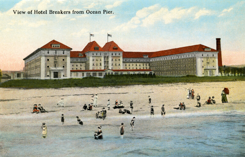 A View of the Hotel Breakers, from the Ocean Pier